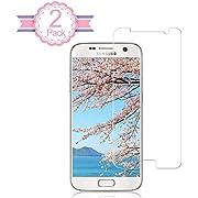 [2 Stück] iTURBOS Vollständige Abdeckung Galaxy S7 Displayschutzfolie Blasenfrei, Anti-Fingerabdruck, Full HD Ultra-Klar, Einfache Installation Galaxy S7 Panzerglasfolie
