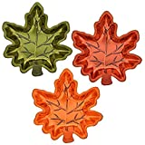 Fall Autumn Thanksgiving Maple Leaf Stackable Salsa Bowls, Snack, Dip,...
