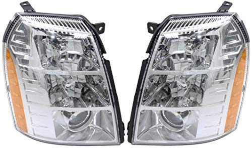 Headlight Compatible For 2007-2009 Cadillac Escalade EXT Left Driver and Right Passenger HID/Xenon With bulb(s)