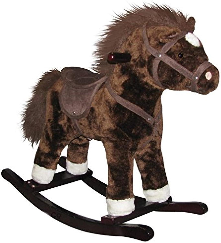 Charm Company Horse Rocker Ride On, Brown