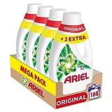 Ariel Detergente Lavadora Líquido, 168 Lavados (Pack 4 x 42), Original