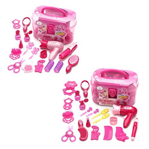 Liangjunjun Kunststoff Make-up-Zubehör Set Kinder So Tun, Als Ob Sie Spielen Kind Bilden Spielzeug Set Friseursimulation Kosmetik Mädchen Dressing Travel Kit