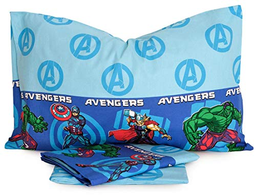 Completo Letto Lenzuola Lenzuolo Singolo 100% Cotone Marvel Avengers
