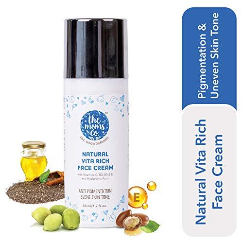 The Moms Co. Natural Vita Rich Face Cream | Reduces pigmentation, fine lines, uneven skin tones |...