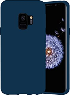 Samsung Galaxy S9 case cover | Soft silicone Material Anti Scratch | Anti-fingerprint Lightweight 360 Protective Case. (Blue)