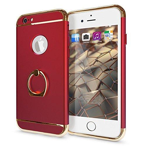 Sonolife – Funda Compatible con iPhone 6 Plus y 6s Plus con Soporte de Anillo y Acentos Brillantes…