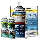 Macari Set de limpieza de aire acondicionado: 2 x Klimafresh 1 x limpiador de aire acondicionado, para desinfección y cuidado del coche, ambientador para mejorar el clima y el perfume del coche