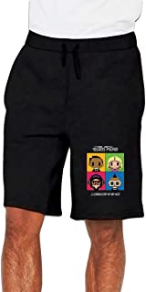 ショートパンツ メンズ 短パン ブラック・アイド・ピーズ 5分丈 ハーフパンツ 半パンツ 膝上 半ズボン ストレッチ ランニングパンツ スウェット ビーチパンツ カジュアル 部屋着 トレーニング M-3XL ブラック グレイ ポケット付き