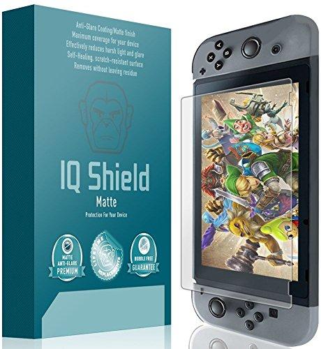 IQ Shield Matte Screen Protector Compatible with Nintendo Switch (Console)(Updated Design) Anti-Glare Anti-Bubble Film