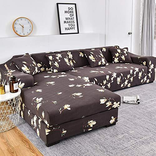 WXQY Funda de sofá con patrón de Rayas, Funda de sofá de algodón, Funda de sofá elástica para Sala de Estar, sofá Chaise Longue en Forma de L A18 1 Plaza
