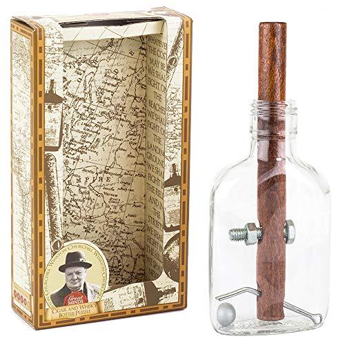Professor PUZZLE GM1350 Churchill's Zigarren-und Whiskey-Flaschen-Puzzle, durchsichtig