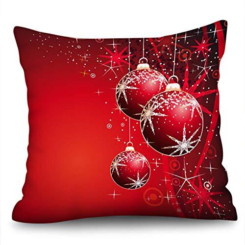 Funda De Almohada Decorativa De Impresión Digital para El Hogar, Dormitorio De Navidad, Respaldo De Asiento, Material De Algodón Y Lino