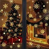 WELLXUNK Pegatinas Copo de Nieve,Navidad Pegatina,Navidad Pegatinas de Ventana para Adorno Navideño Accesorio de Decoración para Navidad (147)