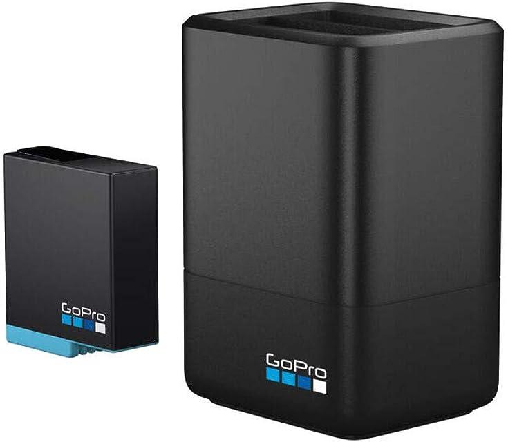 GoPro AJDBD-001-EU Cargador de batería dual y batería para Hero 8/7/6 Tamaño Único Negro