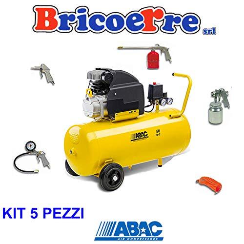 LuftAbac Kompressor Abac Montecar B20 BASILIN- 8 HP2 Bar 50 Liter plus Set 5 Stück Filterkarre
