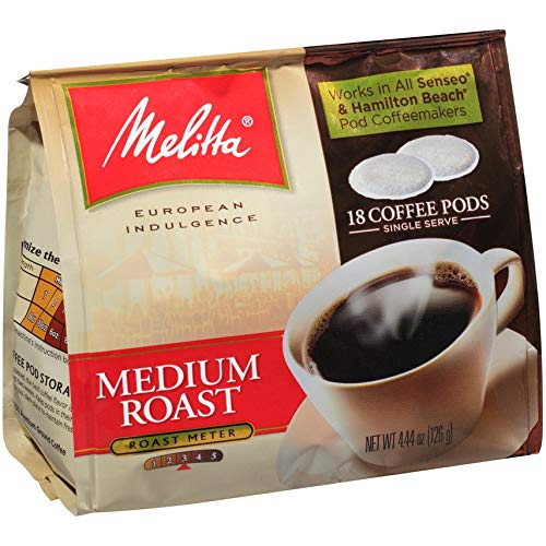 Melitta Medium Roast Soft Pod Coffee - 1 Bag of 18 Pods by Melitta