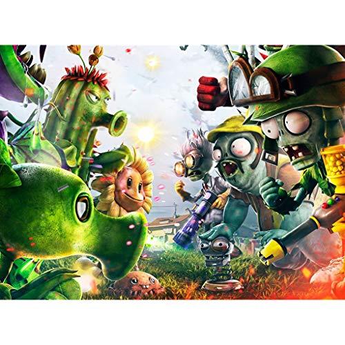 Plants Vs Zombies Poster Puzzle 300/500/1000 Stück Holz Spiele Puzzles Spielzeug for Erwachsene Kinder-Weihnachtsgeburtstag-Geschenke (Color : A, Size : 1000pc)