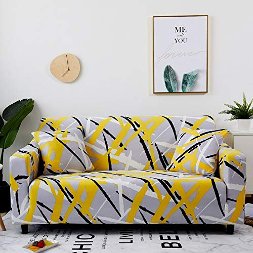 Envoltura de algodón elástico Fundas de sofá con Todo Incluido para Sala de Estar Funda de sofá para Silla Loveseat Protector de Muebles A22 3 plazas