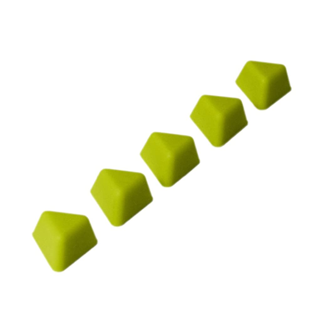 KMN Home DrawerDecor Triangle Divitz, Silicone Adjustable Kitchen Drawer Dividers and Organizers, 5 Pack - Lime