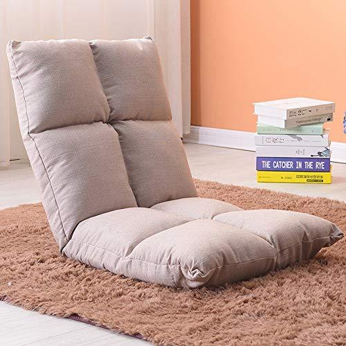 AiHerb.LO JL HX Chaise De Style Japonais Paresseux Canapé Tatami Pliable Simple Petit Canapé-lit Chaise D'ordinateur Dortoir Baie Vitrée A+ (Couleur : C)