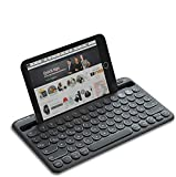 Jelly Comb Kabellose Tastatur, Bluetooth Funktastatur mit Dual-Kanal für Android/Windows Tablet, iOS iPad, Smartphone, Handy, Mac OS,...