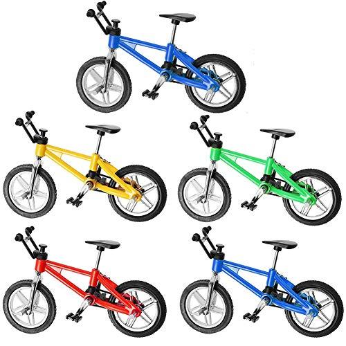 BESLIME Finger Mountainbike, Finger Fahrrad Mini Fahrrad Spielzeug Legierung Finger Mountainbike Modell Ornamente BMX Fahrrad Kugel Modell Bike Gadgets,5 Stück