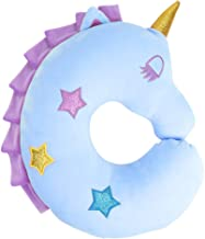 Travel Pillow for Kids,UnicornNeck Pillow,Soft Car Seat Sleeping Head Support,Airplane Travel Accessories,Plush Animal U Shaped Cushion,Perfect Unicorn Christmas Birthday Gift for Kids Child (Blue)