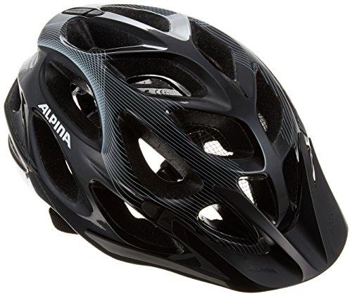 ALPINA MYTHOS 2.0 Fahrradhelm, Unisex– Erwachsene, black-white-lines, 52-57