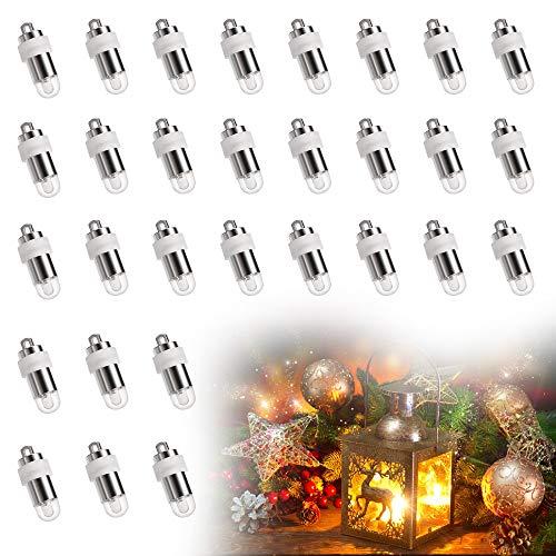 Sporgo 30 Stück Mini LED-Ballons Lichter,Led Ballon Lichter Warmweiß Wasserdicht Beleuchtung Für Papierlaternen Warmweiß Hochzeit Dekor,Weihnachten Party,Blumendekoration. (warmwhite 1)