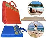 O&W Security – Esterilla de playa, esterilla de playa, manta de picnic, para la playa, 180 x 60 cm, con asa, muy buena calidad, fácil de llevar y ecológica