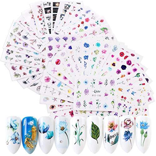 Nagelsticker, Kapmore 48 PCS Nagel Sticker Nail Art Sticker Nagelsticker Selbstklebend Kunst Aufkleber Maniküre Weihnachten Deko