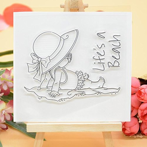 Welcome to Joyful Home 1pc Summer Life is a beach Clear Stamp for Card Making Decoration and Scrapbooking