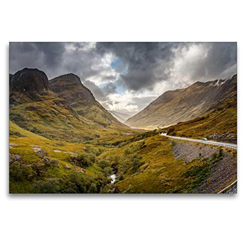 Premium Textil-Leinwand 120 x 80 cm Quer-Format Glen Coe | Wandbild, HD-Bild auf Keilrahmen, Fertigbild auf hochwertigem Vlies, Leinwanddruck von Thomas Gerber