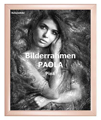 Homedecoratie fotolijst Paola 60 x 85 cm roze met acrylglas antireflex 1 mm formaat vanaf 51 tot 110 cm breedte