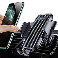 SICHER UND BEQUEMER FAHREN: Ihre Handys werden in unserer Verbesster PKW Handy Halterung befestigt, extra sichere Griffigkeit an den Lüftungsschlitzen unabhängig von Vibrationen durch den Straßenbela Jedes Smartphone, das im Auto fest in unserer Hand...