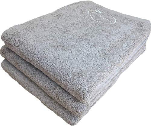 【選べる12色】バスタオル 同色 3枚セット ふんわり仕上げのナチュラルバスタオル(70×140cm)/ウォールナッツ