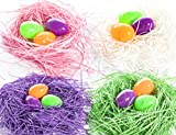 YTTIKOTOYS Easter Grass Basket Filler,Recyclable Shredded Paper for Gift Baskets 330g (12 oz.)-Pink,White,Purple&Green,for Easter Bags Stuffers,Easter Theme Party Supplies Decoration,Gift Wrapping