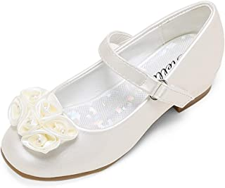 STELLE Girls Mary Jane Flats Low Heel Party Dress Shoes for Kids Flower Girls