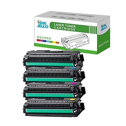 InkJello Remanufactured Toner Patrone Ersatz für Samsung CLP-680DW CLP-680ND CLX-6260FR CLX-6260FW CLX-6260ND CLT-506L (Schwarz/Cyan/Magenta/Gelb, 4-Pack)