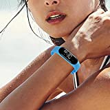 Smart Bluetooth Bracelet Wristband for Android and iOS,Adjustable Length Sport Fitness Tracker with USB Charger,Intelligent Vibrating Alarm Clock,Heart Rate Calories Step Pedometer