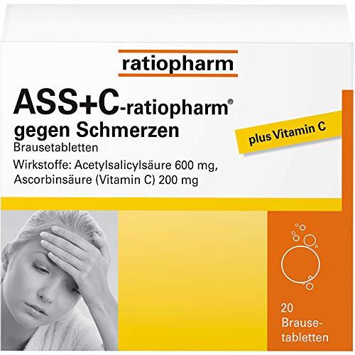 ASS+C ratiopharm gegen Schmerzen, 20 St