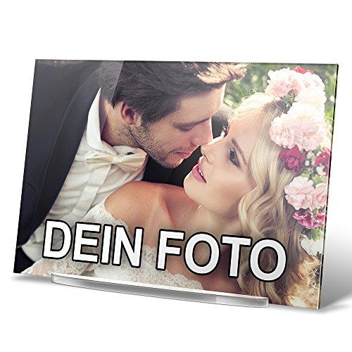 PhotoFancy® - Acryl Glas mit Foto Bedrucken - Acrylglas Personalisieren - Foto-Aufsteller mit eigenem Motiv selbst gestalten (17 x 12 cm)