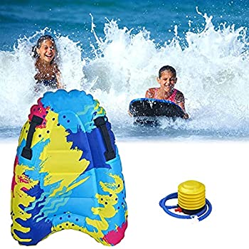Outdoor Summer Inflatable Surfboard Inflatable Surfing Body Board with Handles Children s Portable Floating Board Surfboard for Beach Surfing Swimming Summer Water Fun  a