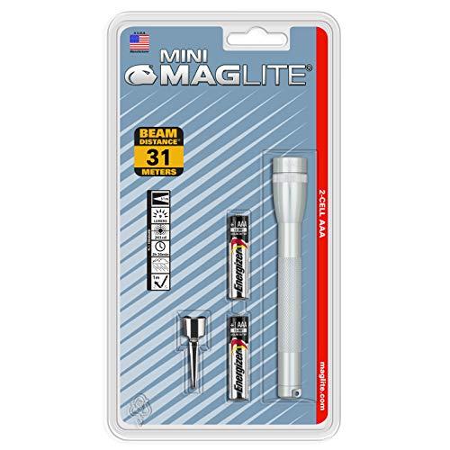 Mag-Lite M3A106 Mini-Mag Lampe de Poche Métal Argent 12,5 cm