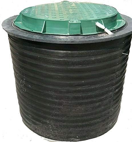Brunnenschacht, Verteilerschacht, Kontrollschacht, Revisionsschacht, Erdschacht aus Kunststoff komplett mit einem abschließbaren Deckel (ohne Boden) 80 x 80cmGrün