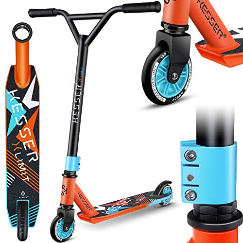 KESSER® Stunt Scooter X-Limit - 360° Lenkung Robuster Funscooter...
