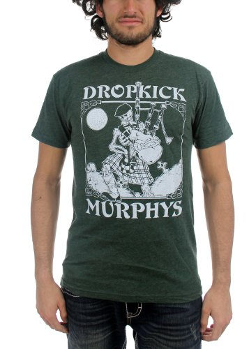 Dropkick Murphys - Maglietta vintage da uomo con scheletro Foresta XL
