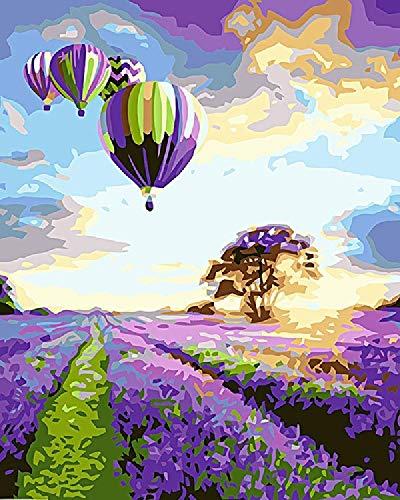 Digitaal olieverfschilderij veel plezier bij het zeilen doe-het-zelf decoratie geschenken, kinderen beginners kleur frameloos canvas schilderij handwerk door nummer 40 * 50 cm