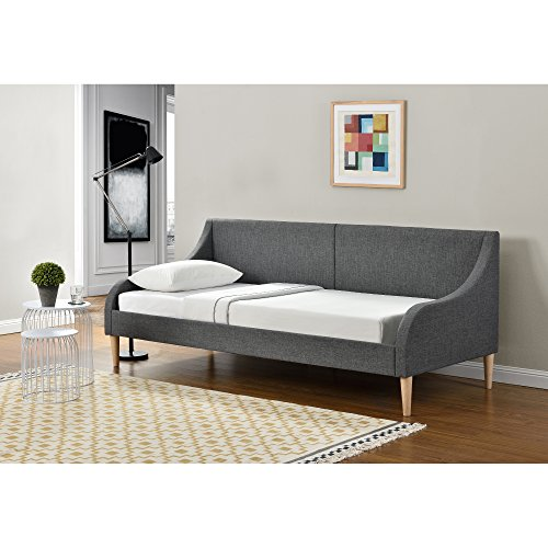 [en.casa] Tagesbett 90 x 200 cm Schlafsofa Bett Textil Bettgestell