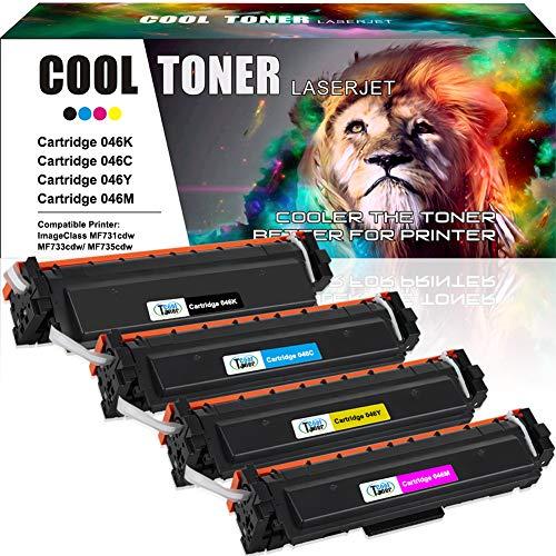 Cool Toner Kompatibel Toner Cartridge Replacement für Canon 046H 046HK 046HC 046HM 046HY für Canon i-SENSYS MF732Cdw MF734Cdw,Canon i-SENSYS MF735Cx,Canon i-SENSYS LBP653Cdw,Canon i-SENSYS LBP654Cx